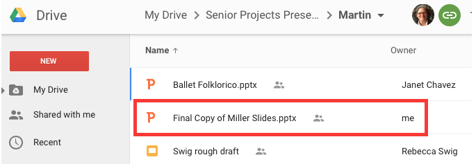 How Do I Copy My Google Slides Presentation to a Shared