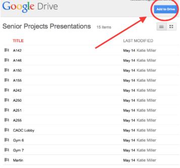 how do i copy my google slides presentation to a shared folder